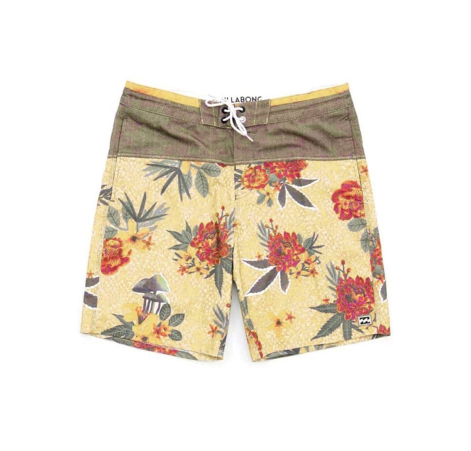 Board shorts with flowers