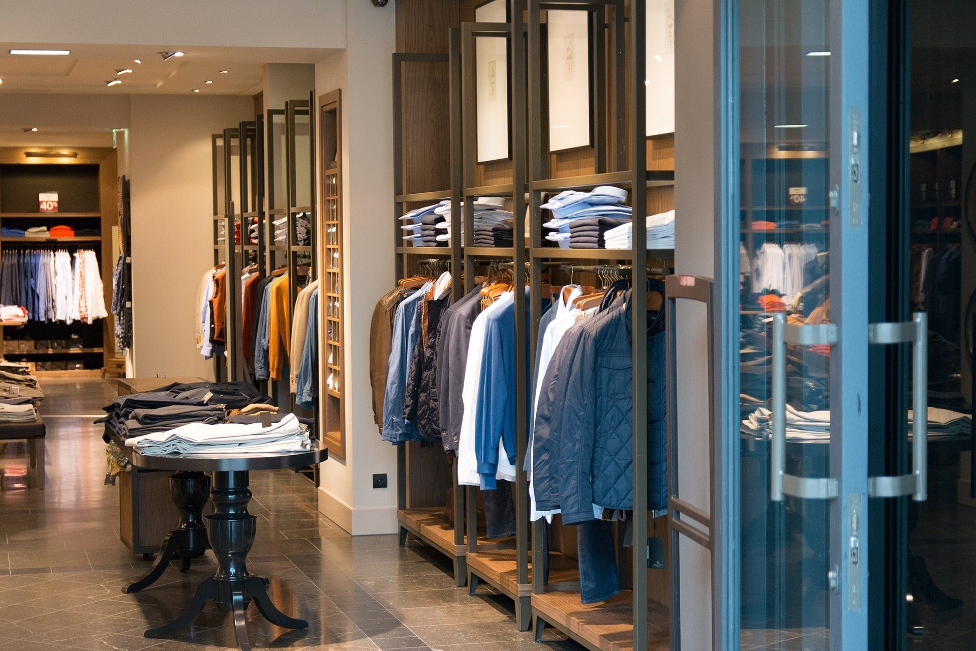 Apparel store interior