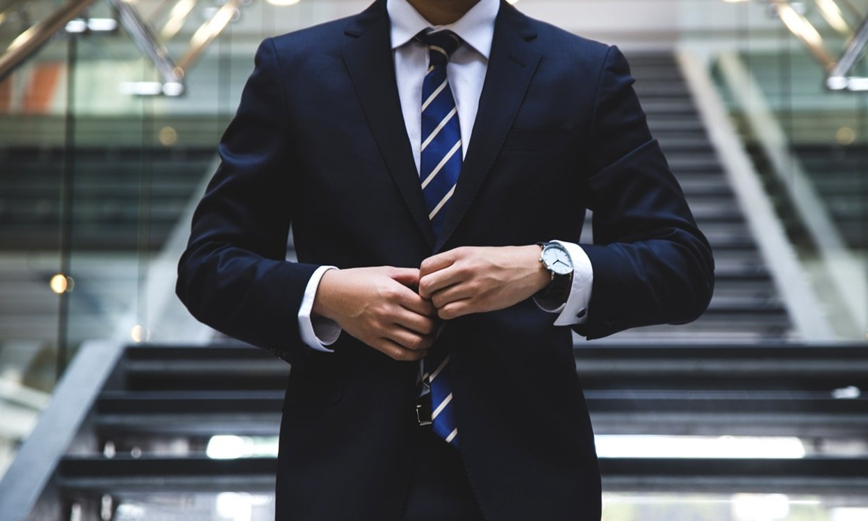 Businessman wearing a suit