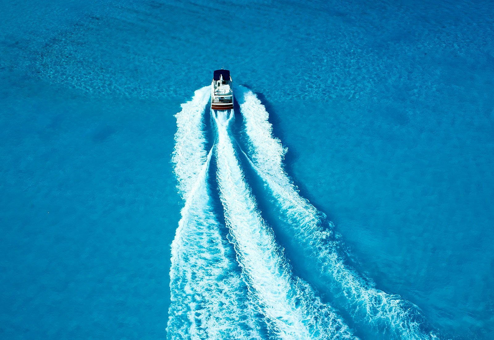 Top view of a motor boat