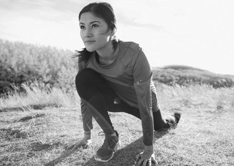 Woman exercises outdoor
