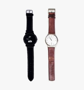 Black and brown watches
