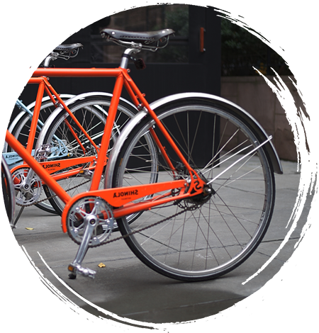 Bike with an orange frame